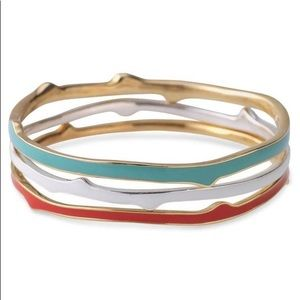 Stella and Dot set of 3 coral bracelets.